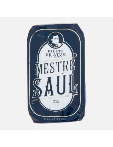 """""""Mestre Saúl"""" - Filetes de Atum Maturado em Azeite Santa Catarina 120g"""